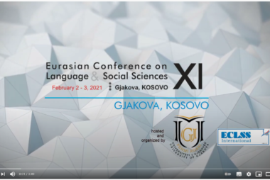 Watch our video clip about ECLSS2021a, Gjakova, Kosovo!